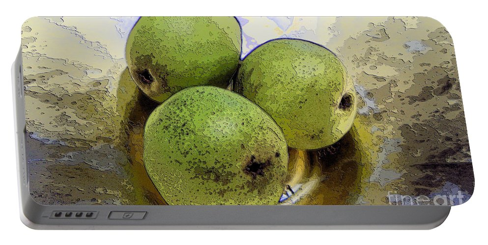 Pears Portable Battery Charger featuring the digital art Pears by Ron Bissett
