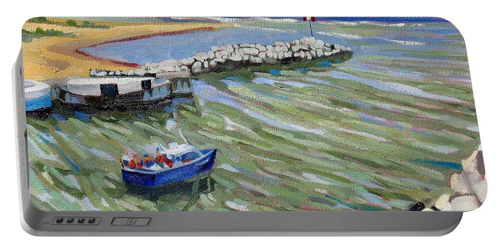 909 Portable Battery Charger featuring the painting Peerlessly Outbound by Phil Chadwick