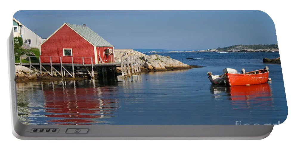 Peggy's Cove Portable Battery Charger featuring the photograph Peggys Cove by Thomas Marchessault