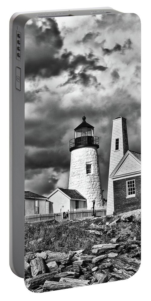 Buildings Portable Battery Charger featuring the photograph Pemaquid Point 4821b by Guy Whiteley