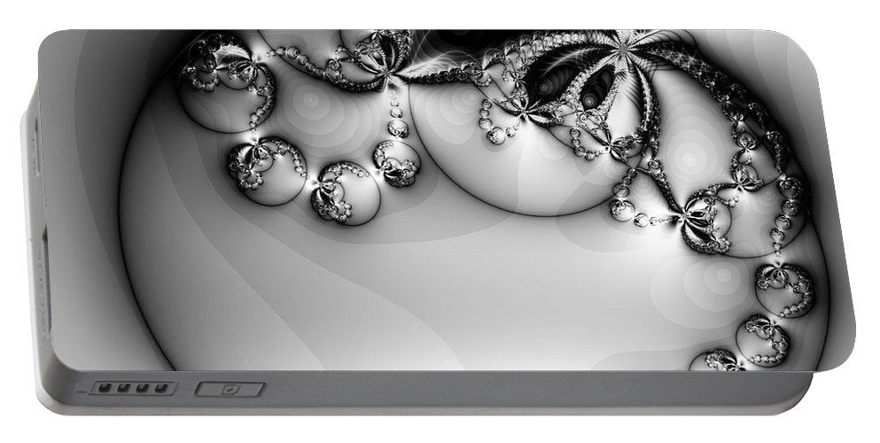 Digital Art Portable Battery Charger featuring the digital art Pendant In Silver by Amanda Moore