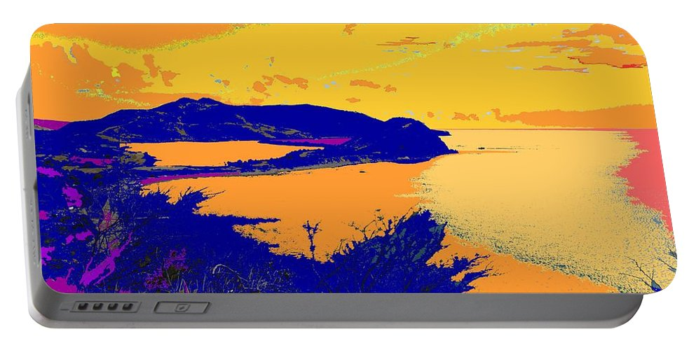 St Kitts Portable Battery Charger featuring the photograph Peninsula Orange by Ian MacDonald