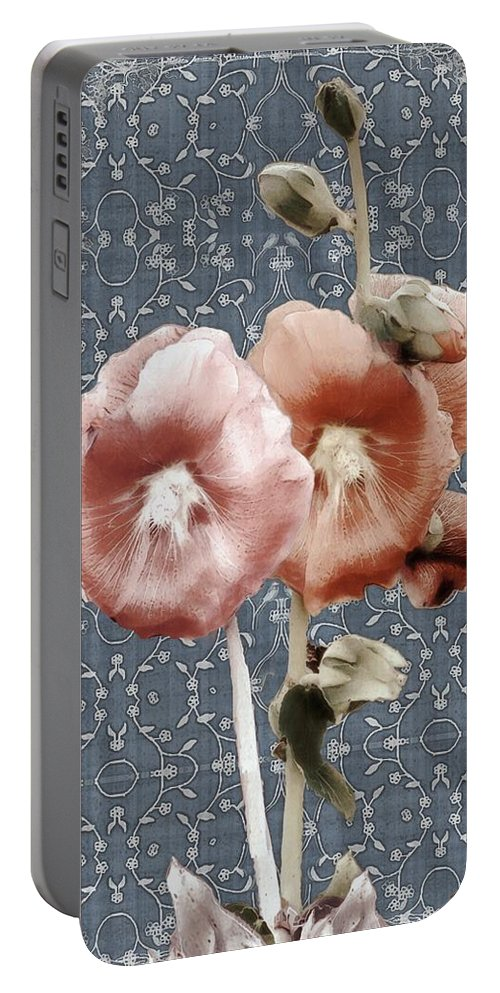 Cloth Portable Battery Charger featuring the painting Penny Postcard Bombay by RC DeWinter