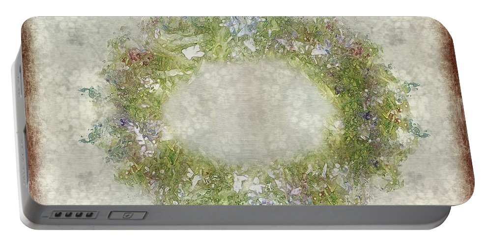 Flowers Portable Battery Charger featuring the painting Penny Postcard Rustic by RC DeWinter