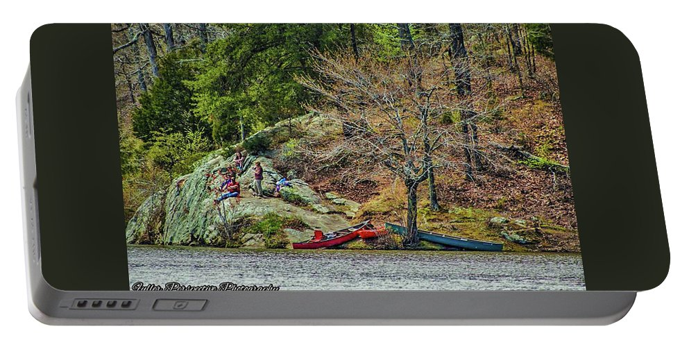 Water Portable Battery Charger featuring the photograph Pennyrile Park Canoes by Chad Fuller