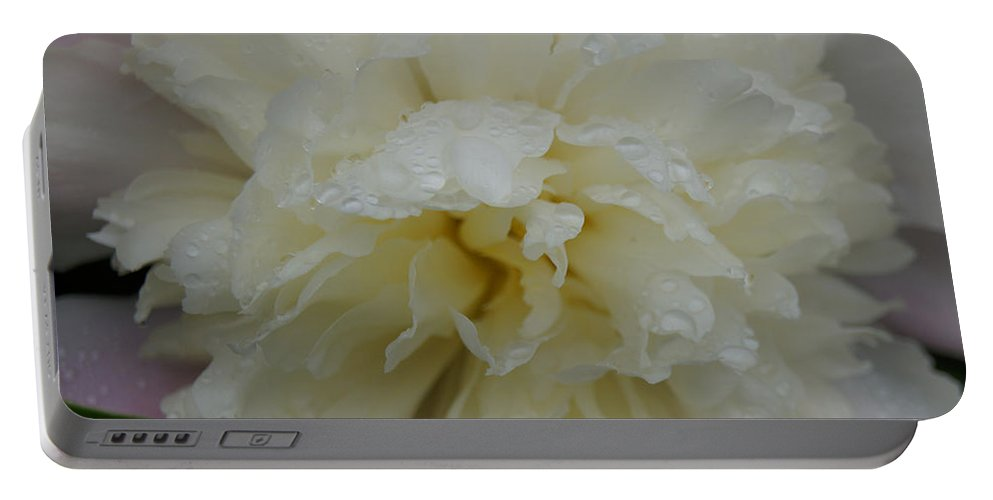 Floral Portable Battery Charger featuring the photograph Peony by Kristi Ulrich