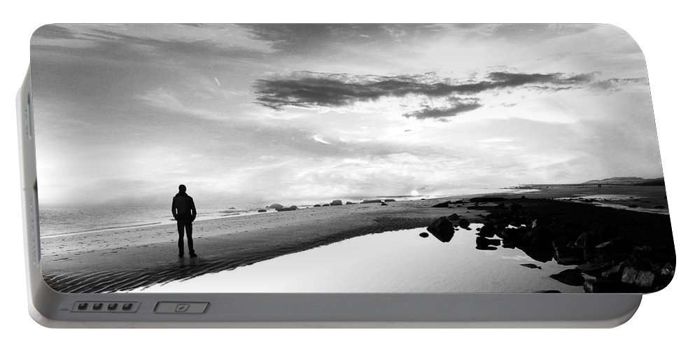 B&w Portable Battery Charger featuring the photograph Per Sempre by Jacky Gerritsen