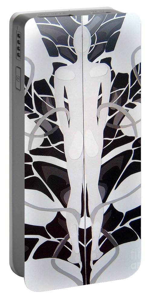 Man Portable Battery Charger featuring the mixed media Perfect Balance by Linda Shackelford