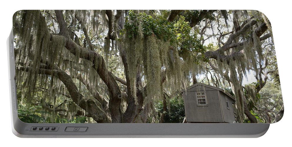 Tree House Portable Battery Charger featuring the photograph Perfect Hideout by To-Tam Gerwe