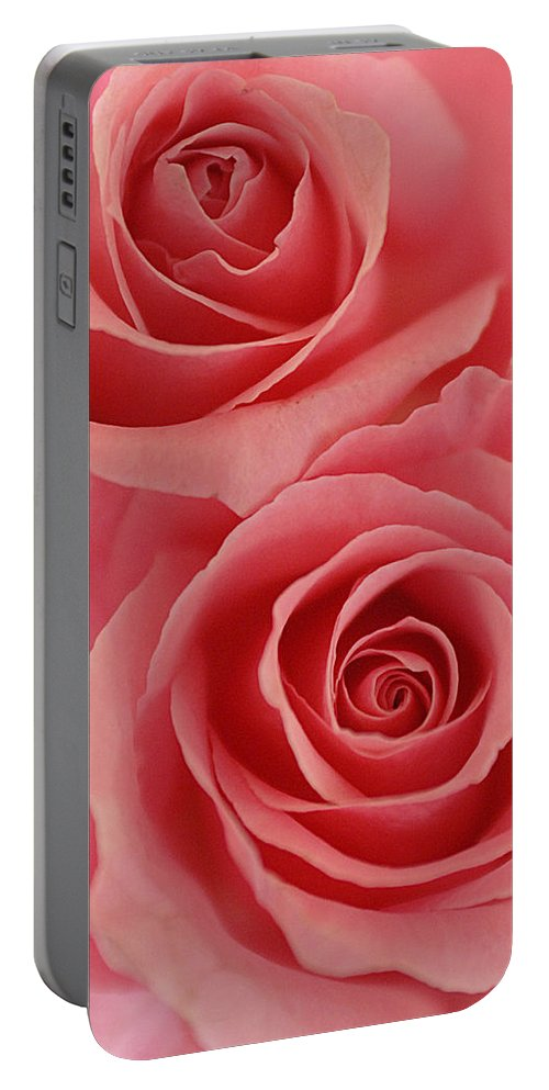 Rose Portable Battery Charger featuring the photograph Perfect Pink Roses by Jill Reger