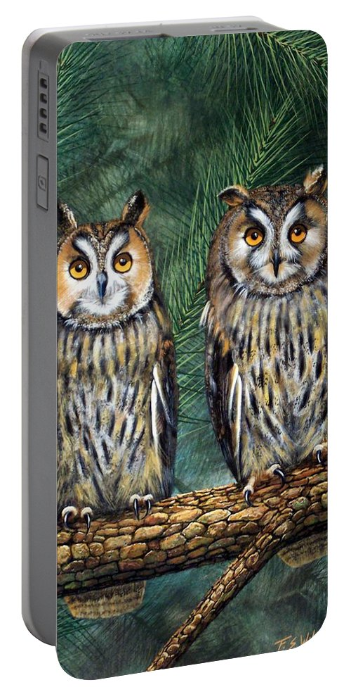 Wildlife Portable Battery Charger featuring the painting Perfect Strangers by Frank Wilson