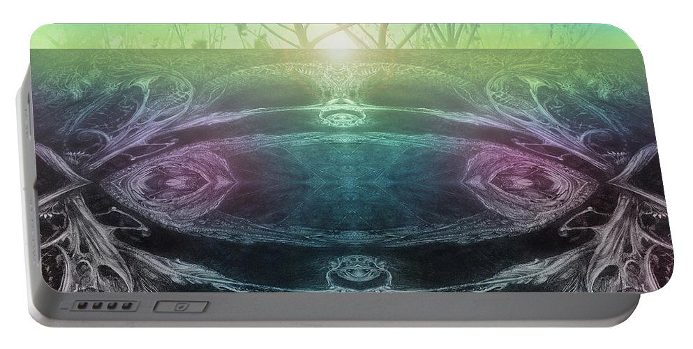 Digital Portable Battery Charger featuring the digital art Perpetual Motion Landscape by Otto Rapp