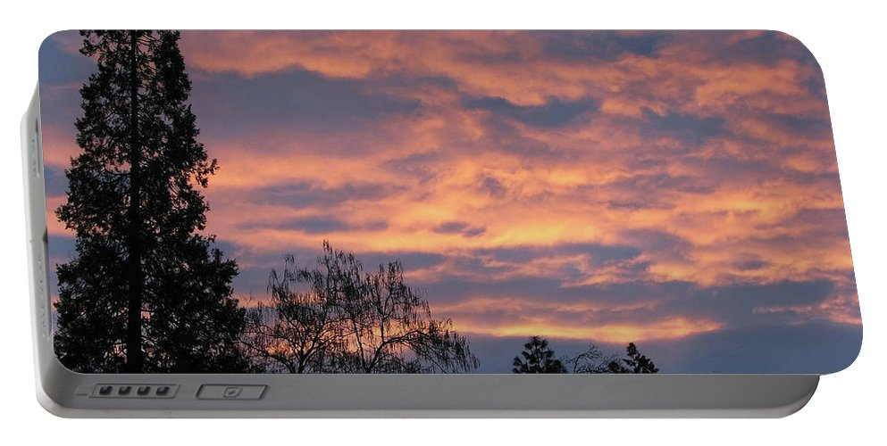 Blue Portable Battery Charger featuring the photograph Perrydale Sunrise by Teri Schuster