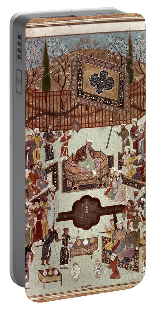1567 Portable Battery Charger featuring the photograph Persian Miniature, 1567 by Granger