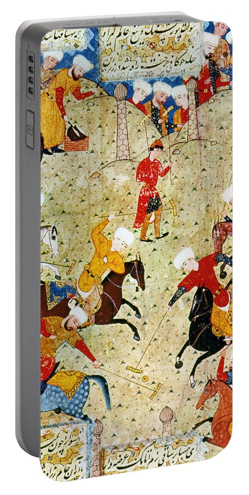 16th Century Portable Battery Charger featuring the photograph Persian Polo Game by Granger