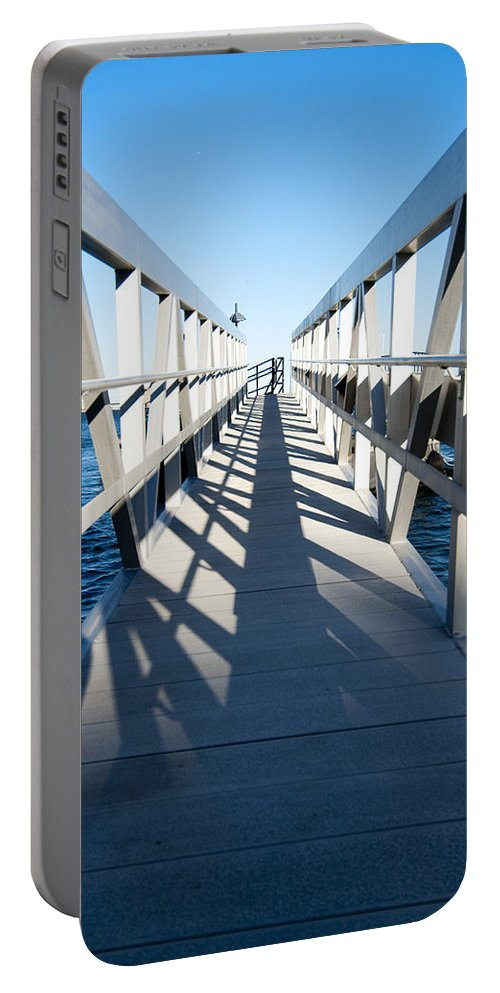 Dock Portable Battery Charger featuring the photograph Perspective Iv by Greg Fortier