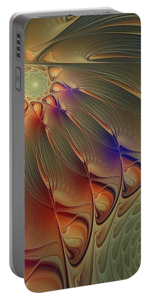 Digital Art Portable Battery Charger featuring the digital art Petalia by Amanda Moore