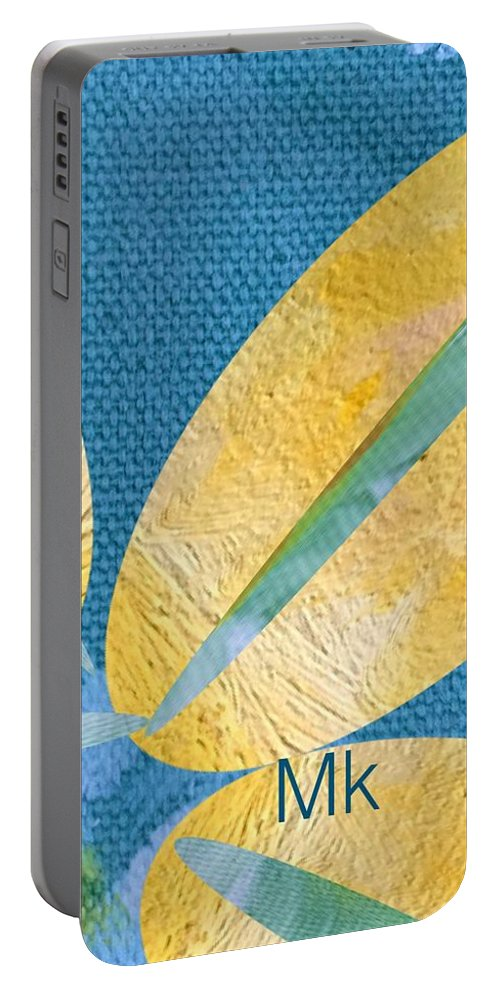 Flower Portable Battery Charger featuring the digital art Petals by Mary Jo Hopton