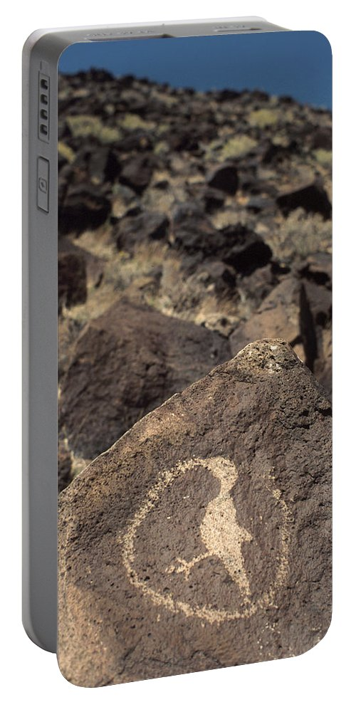 Petroglyph Portable Battery Charger featuring the photograph Petroglyph by Jerry McElroy