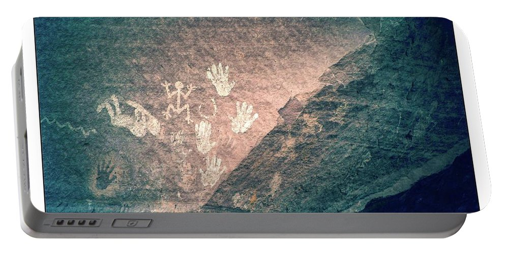 Ancient Portable Battery Charger featuring the photograph Petroglyphs by Michael Farndell