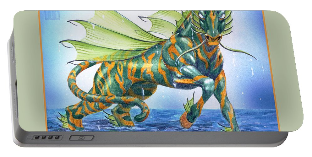 Fantasy Portable Battery Charger featuring the digital art Phantasmal Mount by Melissa A Benson