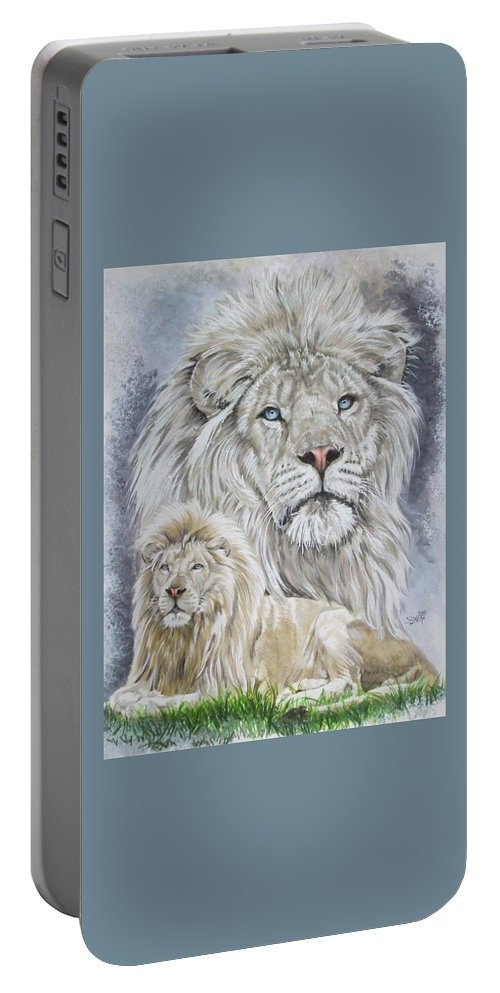 Art Portable Battery Charger featuring the mixed media Phantasy by Barbara Keith
