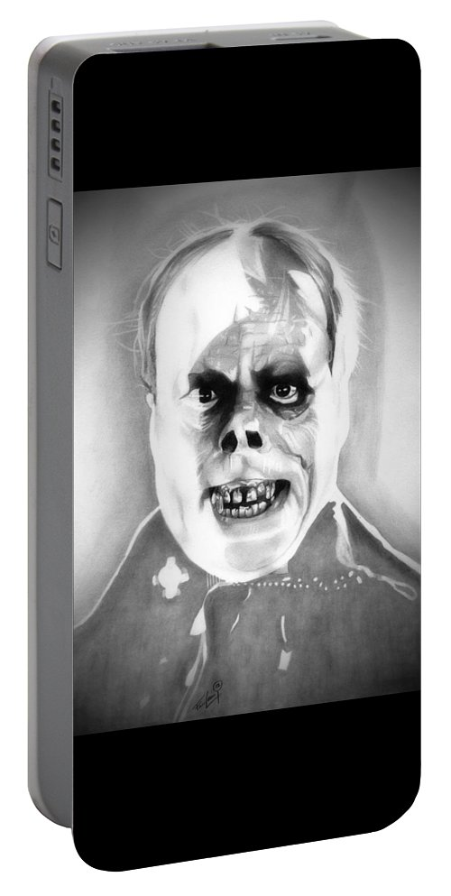 The Phantom Of The Opera Portable Battery Charger featuring the drawing Phantom Of The Opera by Fred Larucci