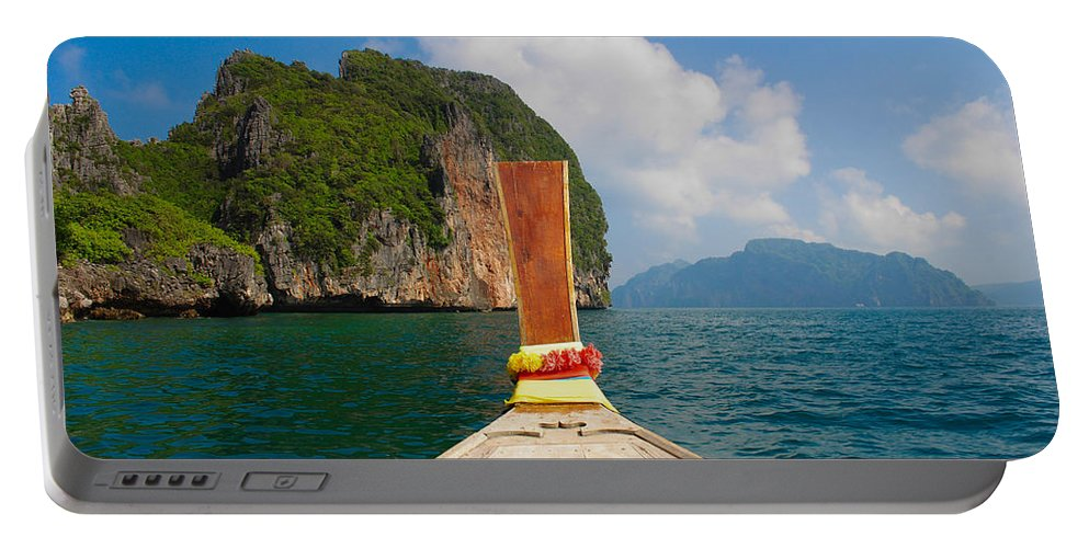 Travel Portable Battery Charger featuring the photograph Phi Phi Leh by Megan Martens