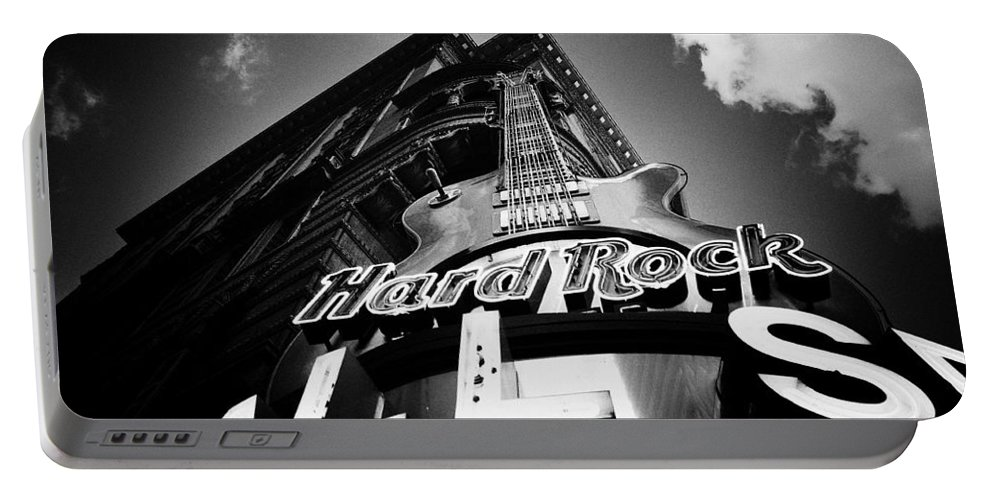Philadelphia Portable Battery Charger featuring the photograph Philadelphia Hard Rock Cafe by Bill Cannon