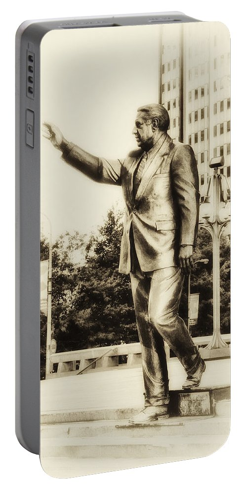 Mayor Portable Battery Charger featuring the photograph Philadelphia Mayor - Frank Rizzo by Bill Cannon