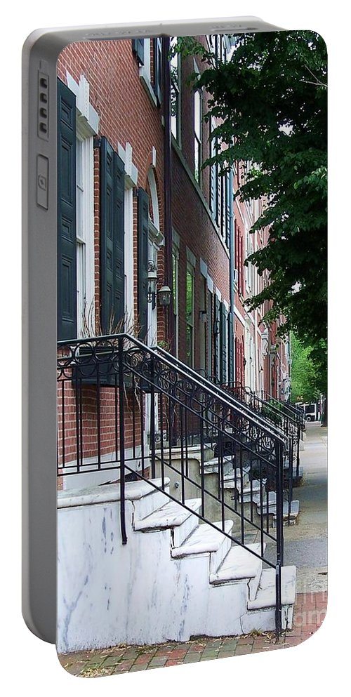 Architecture Portable Battery Charger featuring the photograph Philadelphia Neighborhood by Debbi Granruth