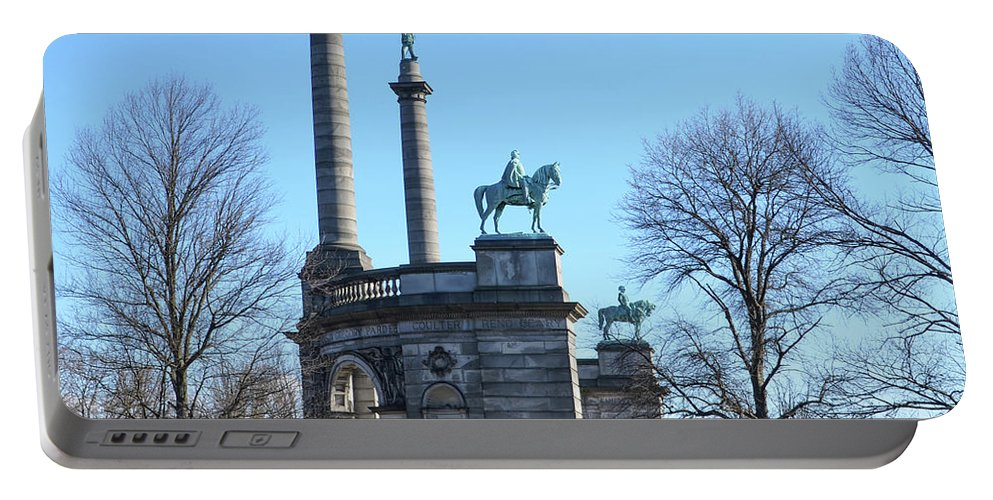Smith Portable Battery Charger featuring the photograph Philadelphia - The Smith Memorial Arch by Bill Cannon