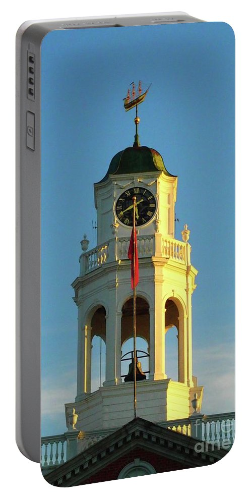 Phillips Exeter Academy Portable Battery Charger featuring the photograph Phillips Exeter Academy Bell Tower by Tom Maxwell
