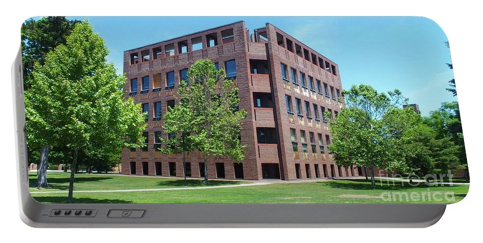 Phillips Exeter Academy Portable Battery Charger featuring the photograph Phillips Exeter Academy Louis Kahn Library by Tom Maxwell