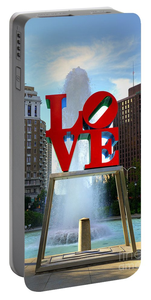 Love Park Portable Battery Charger featuring the photograph Philly Love by Paul Ward
