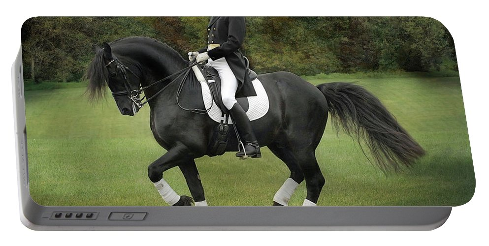 Dressage Portable Battery Charger featuring the photograph Piaffe by Fran J Scott