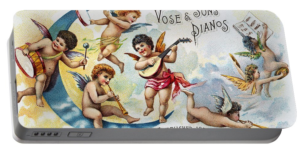 1880s Portable Battery Charger featuring the photograph Piano Trade Card, C1880 by Granger