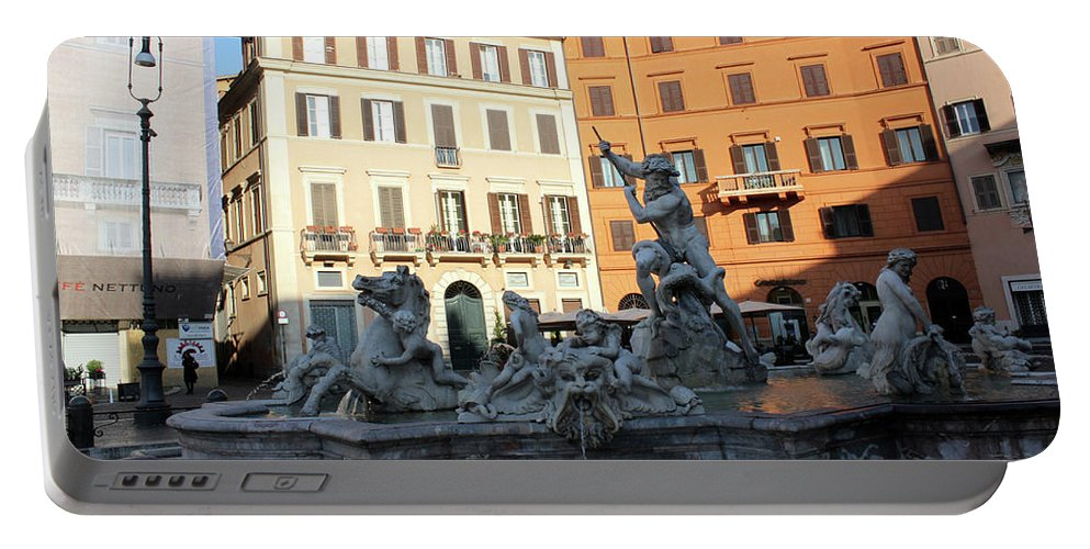Piazza Navona Portable Battery Charger featuring the photograph Piazza Navona Rome by Munir Alawi