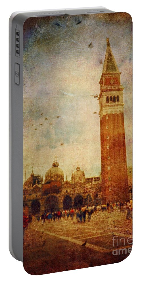 Ambience Portable Battery Charger featuring the photograph Piazza San Marco - Venice by Silvia Ganora