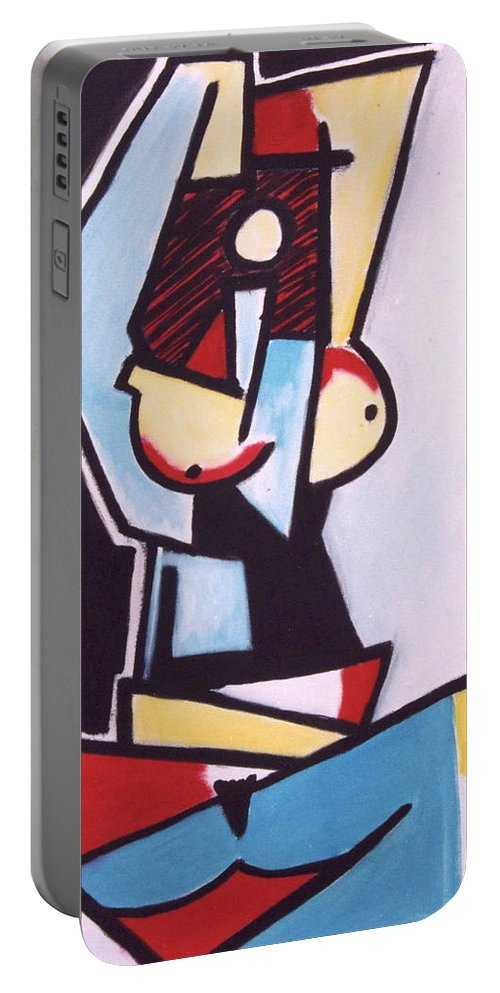 Picasso Portable Battery Charger featuring the painting Picasso by Thomas Valentine