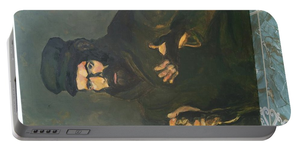 Portable Battery Charger featuring the painting Picassocover by Rammy Neffati