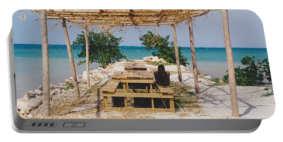 Water Portable Battery Charger featuring the photograph Pick-nick At The Sea by Michelle Powell