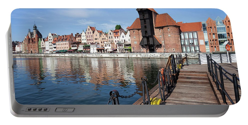 Gdansk Portable Battery Charger featuring the photograph Picturesque City Of Gdansk In Poland by Artur Bogacki