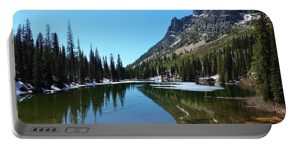 Landscape Portable Battery Charger featuring the photograph Picturesque Lake by Eric Fellegy