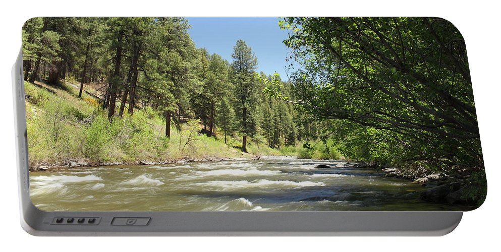 Colorado Portable Battery Charger featuring the photograph Piedra River by Eric Glaser