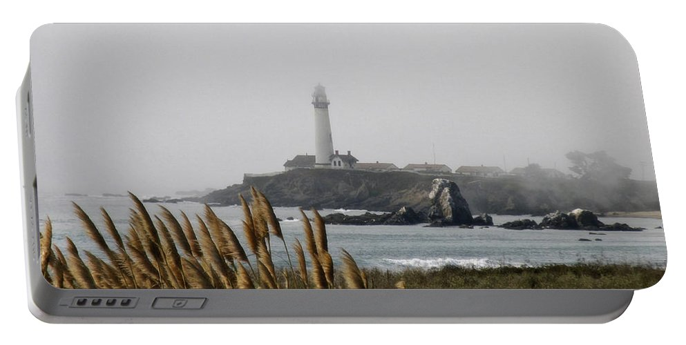 Landscape Portable Battery Charger featuring the photograph Piegeon Point Lighthouse by Karen W Meyer