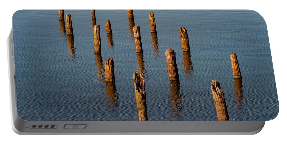 Reelfoot Lake State Park Portable Battery Charger featuring the photograph Pier Posts by Bob Phillips