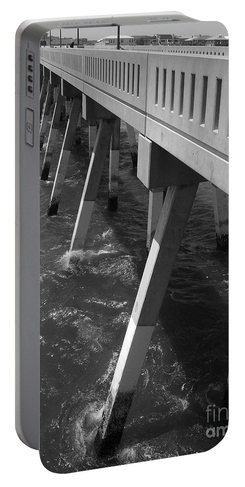 Willmington Portable Battery Charger featuring the photograph Pier Willmington Nc by Tommy Anderson