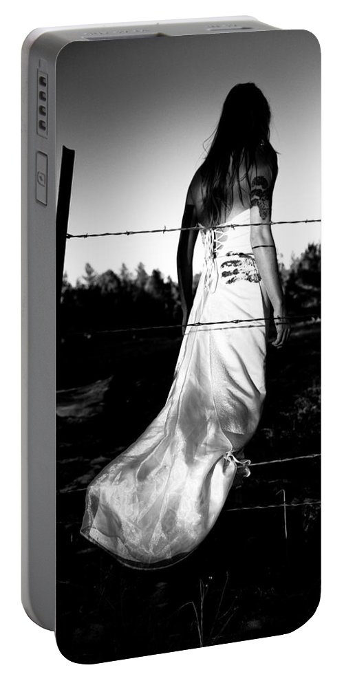 Torn Dress Portable Battery Charger featuring the photograph Pierced Dress by Scott Sawyer