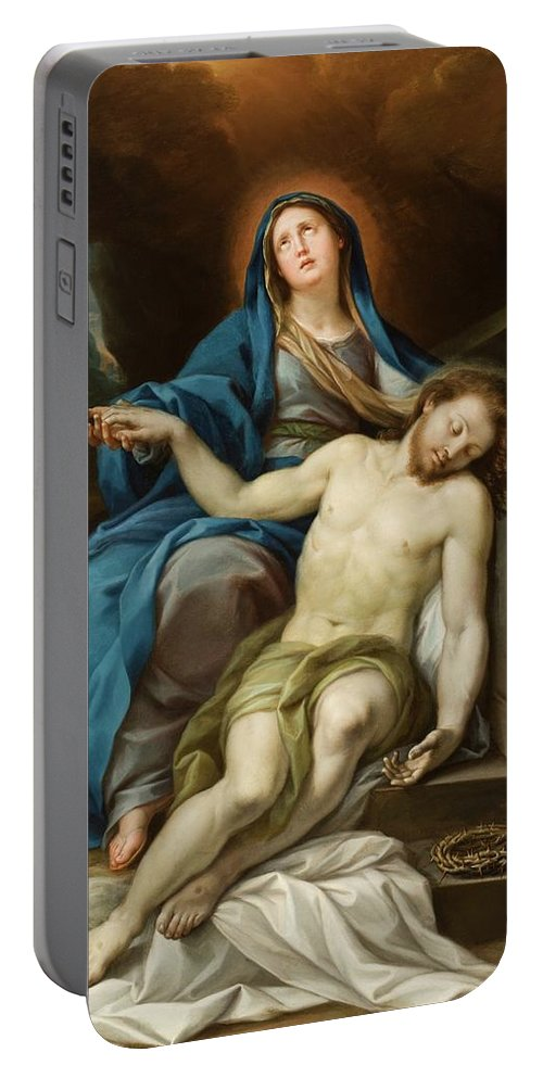 Pieta Portable Battery Charger featuring the painting Pieta by Italian School
